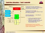 cash flow allocation twin waterfall