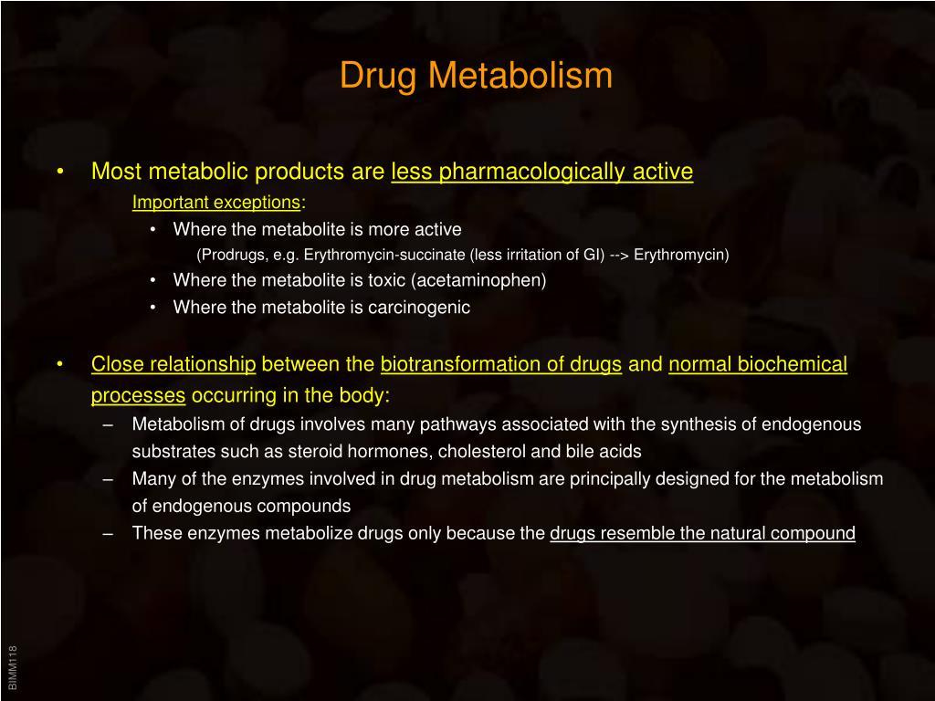 drug metabolism l.