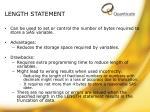 length statement