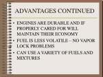 advantages continued