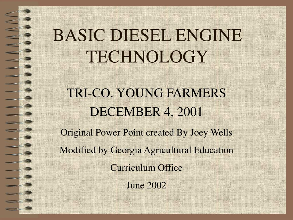 basic diesel engine technology l.