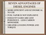 seven advantages of diesel engines