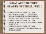 what are the three grades of diesel fuel