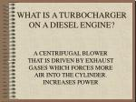 what is a turbocharger on a diesel engine
