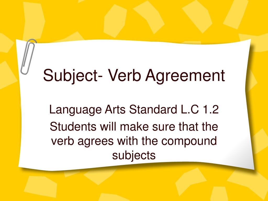 subject verb agreement l.