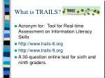 what is trails