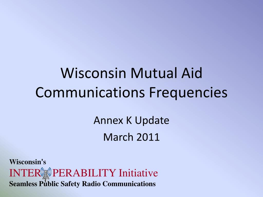 wisconsin mutual aid communications frequencies l.