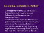 do animals experience emotion