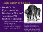 early theory of emotion