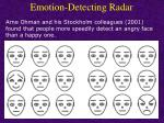 emotion detecting radar