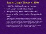 james lange theory 1890