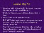 journal day 52