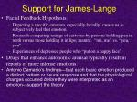 support for james lange