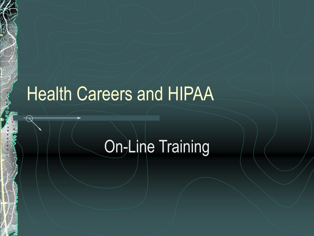health careers and hipaa l.