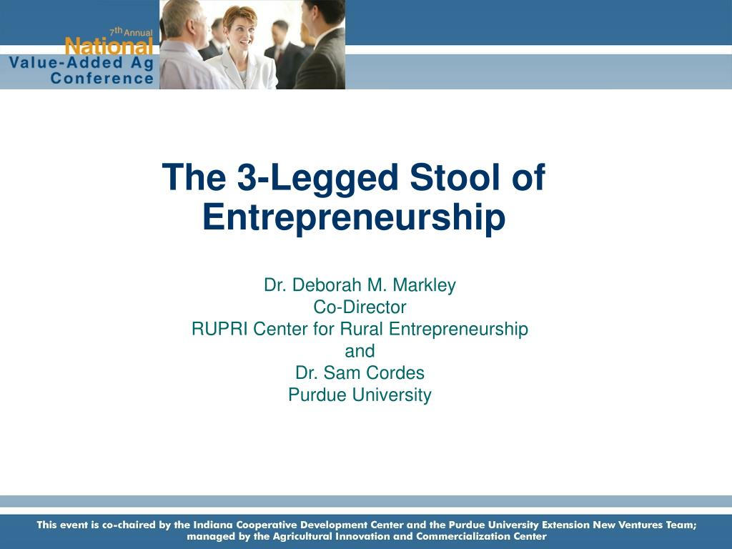 the 3 legged stool of entrepreneurship l.