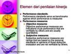 elemen dari penilaian kinerja