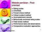 metode penilaian post oriented