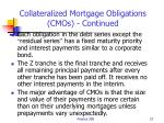 collateralized mortgage obligations cmos continued