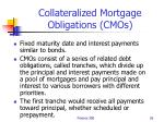 collateralized mortgage obligations cmos