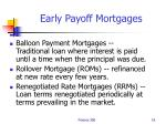 early payoff mortgages