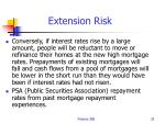 extension risk