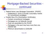 mortgage backed securities continued22