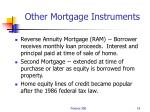 other mortgage instruments
