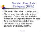 standard fixed rate mortgages frms