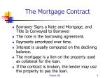 the mortgage contract