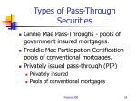 types of pass through securities