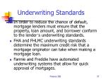 underwriting standards