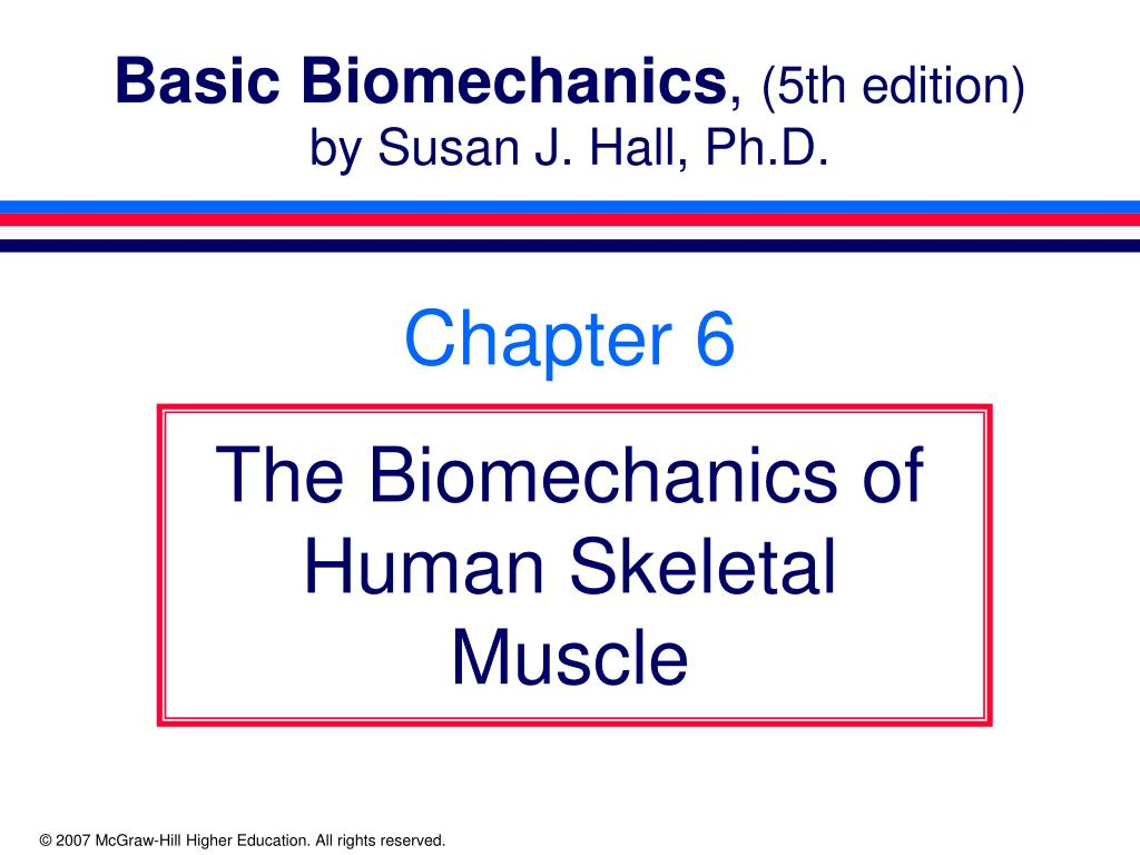 basic biomechanics 5th edition by susan j hall ph d l.