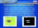 experimental validation result