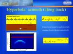 hyperbola azimuth along track