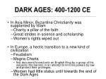 dark ages 400 1200 ce
