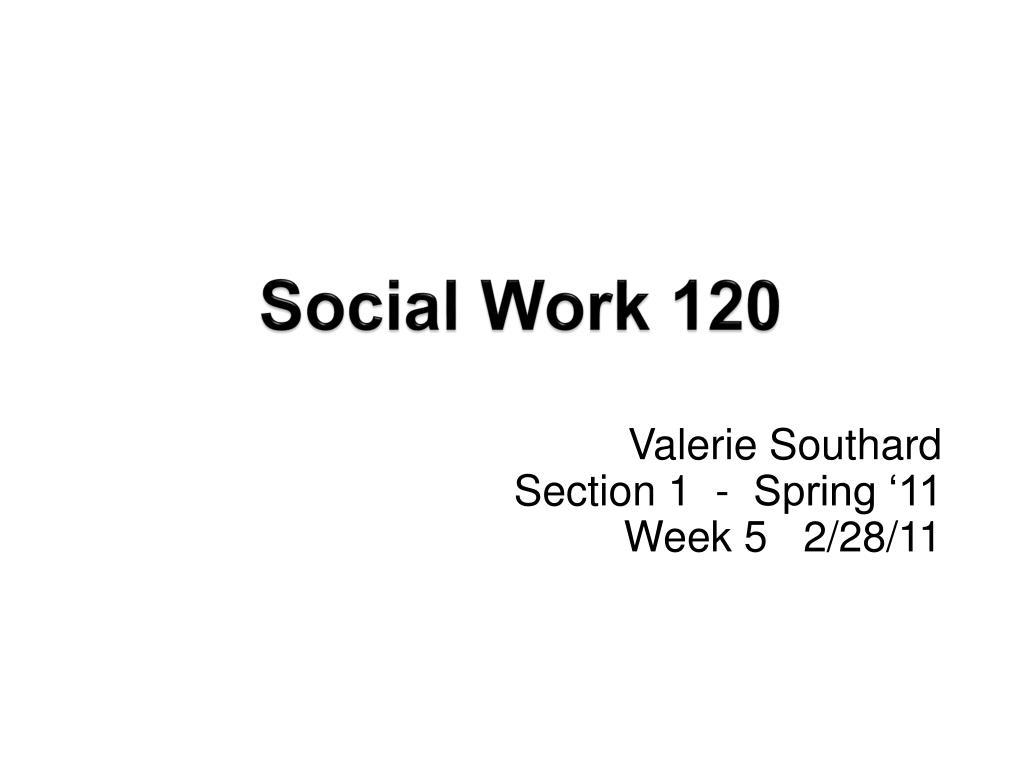 social work 120 l.