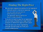 finding the right price