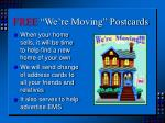 free we re moving postcards