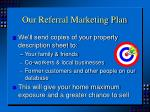 our referral marketing plan