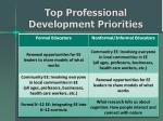 top professional development priorities