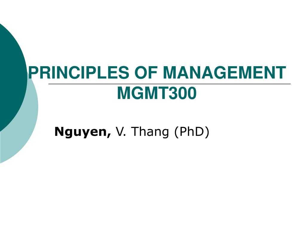 principles of management mgmt300 l.