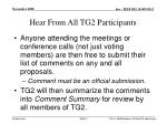 hear from all tg2 participants