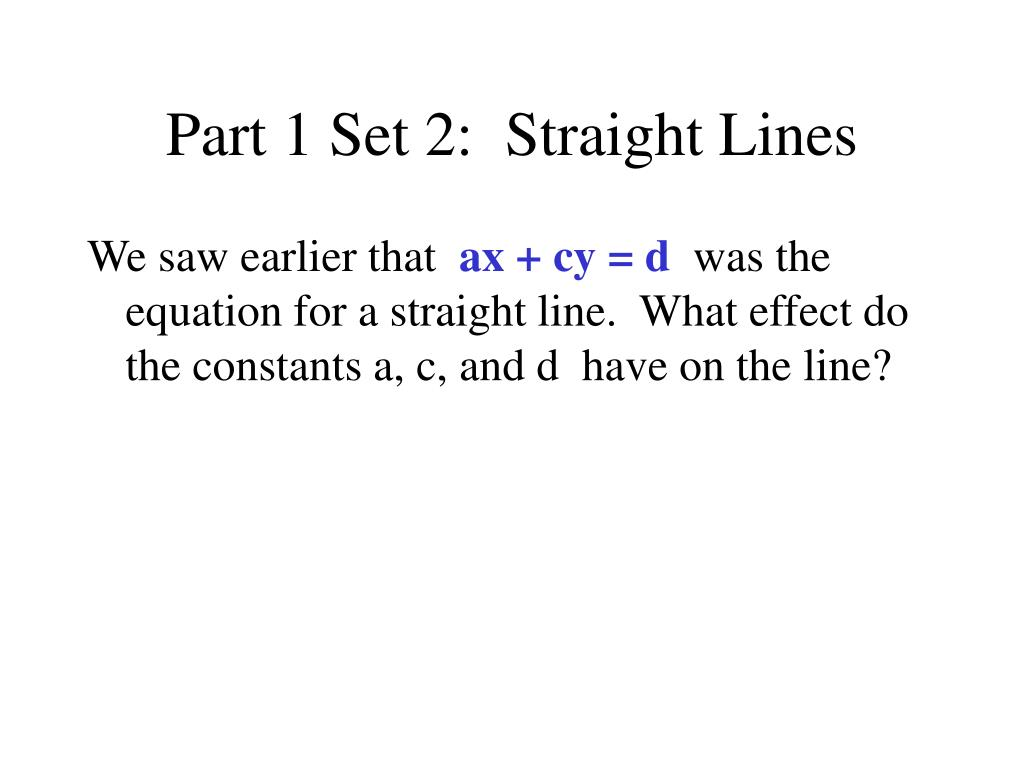part 1 set 2 straight lines l.