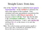 straight lines from data38