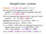 straight lines systems49