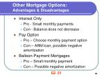 other mortgage options advantages disadvantages