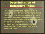 determination of refractive index9