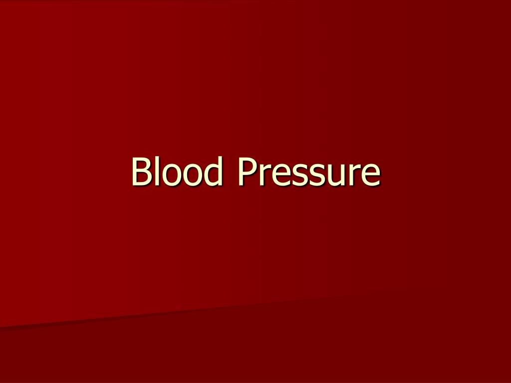blood pressure l.