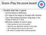 score play the score board28