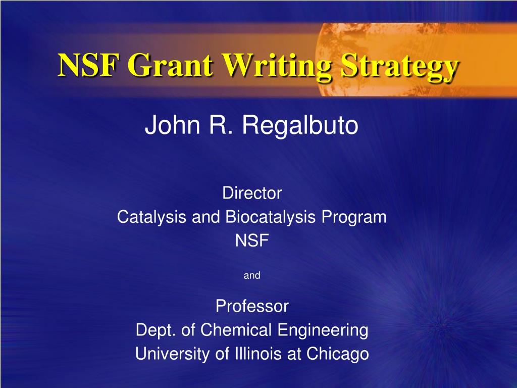 nsf grant writing strategy l.